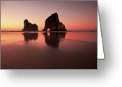 Physical Geography Greeting Cards - Wharariki Sunset Glow Greeting Card by Photography by Tim Bow