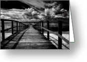 Beach Greeting Cards - Wharf at Southend on Sea Greeting Card by Sheila Smart