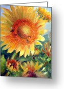 At Work Greeting Cards - What a Buzz Greeting Card by Sharen AK Harris
