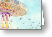 County Fair Greeting Cards - What a Ride Greeting Card by Amy Tyler