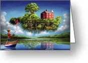 Magic  Digital Art Greeting Cards - What a Wonderful World Greeting Card by Susi Galloway