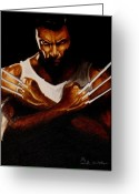 Wolverine Greeting Cards - What cha looking at Bub Greeting Card by Al  Molina