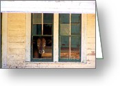 Abandoned Houses Greeting Cards - What Is For Dinner? Greeting Card by Kathy  White