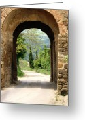 Roman Photo Greeting Cards - What Lies Ahead Greeting Card by Ellen Henneke