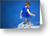 Kid Photo Greeting Cards - What Life Is All About Greeting Card by Gwyn Newcombe