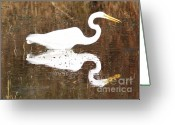 Great Egrets Greeting Cards - What the Egret Caught Greeting Card by Carol Groenen