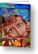 Sad Greeting Cards - What the Mind Feels Greeting Card by Karen Musick