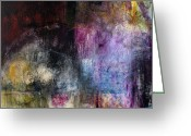 Modern Abstract Art Greeting Cards - What Was I Thinkin Greeting Card by Michel  Keck