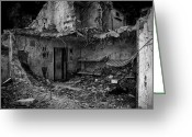 Explosion Photo Greeting Cards - What was once a prison  Greeting Card by Bob Orsillo