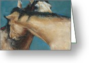 Wild Horses Greeting Cards - What We Can All Use A Little Of  Greeting Card by Frances Marino