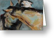 Equines Painting Greeting Cards - What We Could All Use a Little Of Greeting Card by Frances Marino