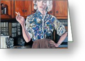 Betty Greeting Cards - Whats For Dinner? Greeting Card by Tom Roderick