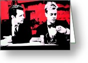 David Lynch Greeting Cards - Whats The Time Sam Stanley Greeting Card by Luis Ludzska
