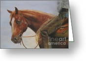 Cowboy Pastels Greeting Cards - Whats up Greeting Card by Sabina Haas