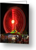 Carnie Greeting Cards - Wheel In The Sky Greeting Card by Gordon Dean II