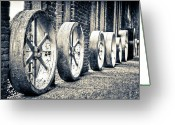 High Wheel Greeting Cards - Wheels Greeting Card by Niels Nielsen