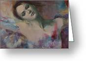 Fantastic Greeting Cards - When a dream has colored wings Greeting Card by Dorina  Costras