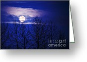 Ronnie Glover Greeting Cards - When All The Worlds Asleep Greeting Card by Ronnie Glover