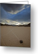 Desolate Landscapes Greeting Cards - When Silt On The Ground Is Wet, Wind Greeting Card by Michael Melford