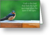 Diane Berry Digital Art Greeting Cards - When The Dawn Is Still Dark Greeting Card by Diane E Berry