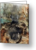 Abstract Prints Greeting Cards - When The Dust Settled Greeting Card by Michel  Keck