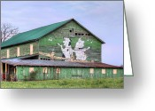 Dances Greeting Cards - When the Farmers Away Greeting Card by JC Findley