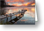 Quay Greeting Cards - When the fishermen go away Greeting Card by Evgeni Dinev
