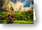 Corn Greeting Cards - When The Sun Comes After Rain Greeting Card by Bob Orsillo