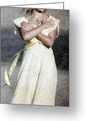 Blonde Photo Greeting Cards - When The Wind Blows Greeting Card by Joana Kruse
