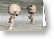 3d Digital Art Greeting Cards - When Toys Go Bad Greeting Card by Sandra Bauser Digital Art