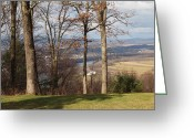 Country Scenes Photographs Greeting Cards - Where Are The Hills Greeting Card by Robert Margetts