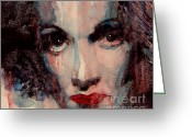 Celebrities Painting Greeting Cards - Where Do You Go My Lovely Greeting Card by Paul Lovering