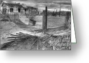 Kelso Greeting Cards - Where Does the Story End Monochrome Greeting Card by Bob Christopher