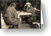 Chess Game Greeting Cards - Where Is Bobby Fischer Greeting Card by Madeline Ellis