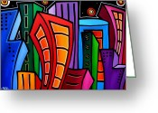 Abstract Music Greeting Cards - Where Its At Greeting Card by Tom Fedro - Fidostudio
