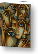 Mood Art Painting Greeting Cards - Where Greeting Card by Michael Lang