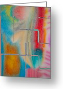 Abstract Card Pastels Greeting Cards - Where My Brush Touches Greeting Card by Marie Jamieson