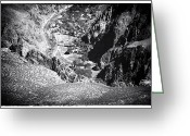 Wonders Of Nature Greeting Cards - Where the River Runs Dry Greeting Card by John Rizzuto