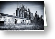 "\""steel Mill\\\"" Greeting Cards - Where They Worked Greeting Card by John Rizzuto"