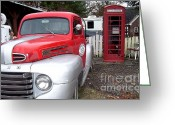 Gaspump Greeting Cards - Where Time Stands Still Greeting Card by Victor Sexton