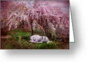 Unicorn Art Greeting Cards - Where Unicorns Dream Greeting Card by Carol Cavalaris
