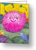 Coral Reef Greeting Cards - Wheres Pinkfish Greeting Card by Catherine G McElroy