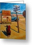 Pickup Painting Greeting Cards - Whether to Cross Greeting Card by Doug Strickland