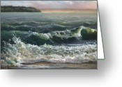 Washington Pastels Greeting Cards - Whidbey Island Life Greeting Card by Sandy  Byers
