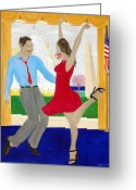 Democrat Party Greeting Cards - While America Withers Greeting Card by Sal Marino