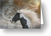 Prayer Digital Art Greeting Cards - While I Breathe I Hope Greeting Card by Terry Kirkland Cook
