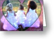Trish Greeting Cards - Whimsical Girls Greeting Card by Trish Clark