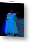 Mistic Greeting Cards - Whirling Dervish - 2 Greeting Card by Okan YILMAZ
