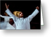 Mistic Greeting Cards - Whirling Dervish - 4 Greeting Card by Okan YILMAZ