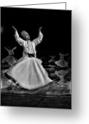 Sacred Photo Greeting Cards - Whirling Dervish Greeting Card by Okan YILMAZ